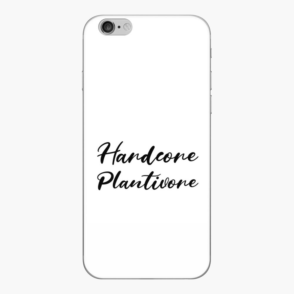 Hardcore Plantivore Black iPhone Skin