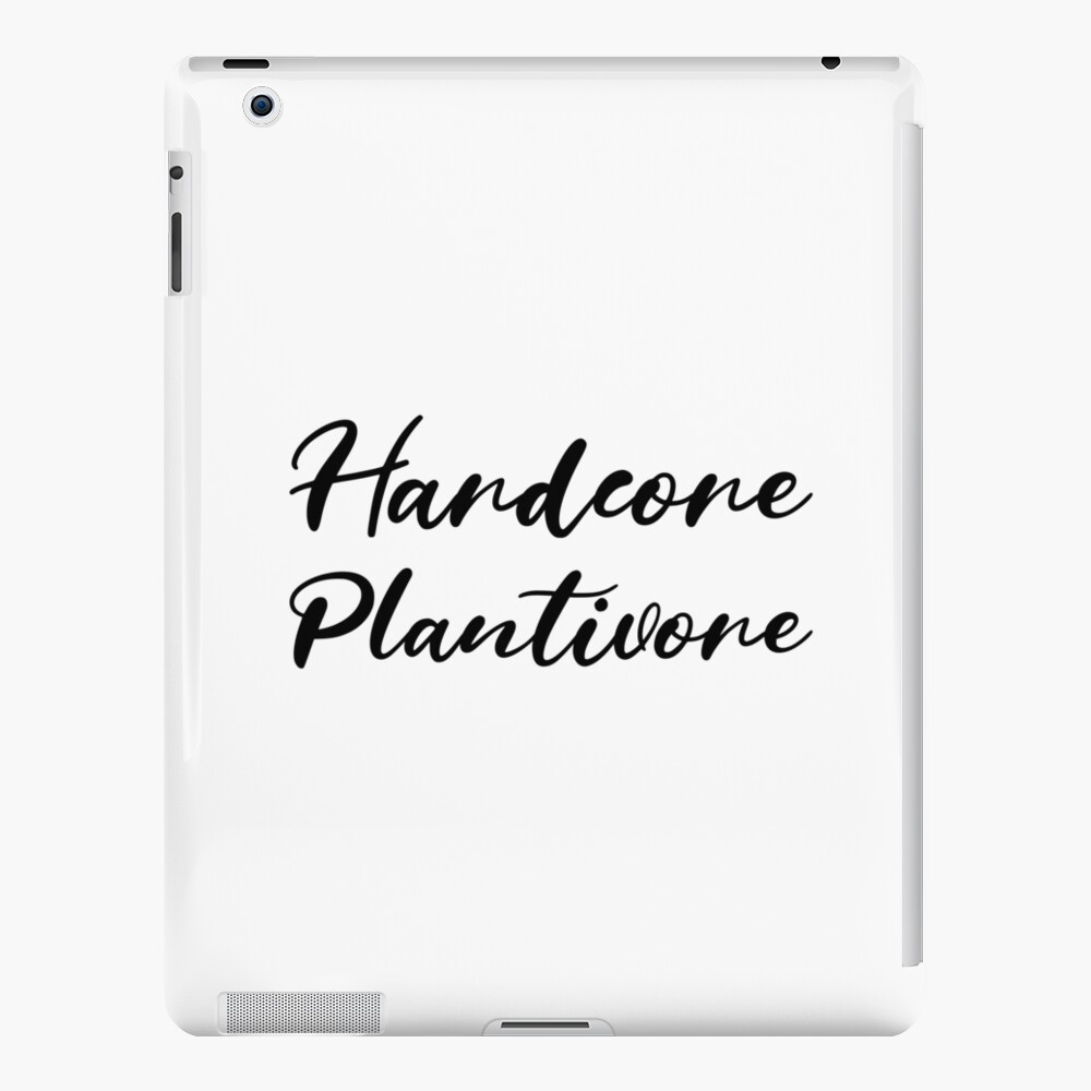 Hardcore Plantivore Black iPad Case & Skin