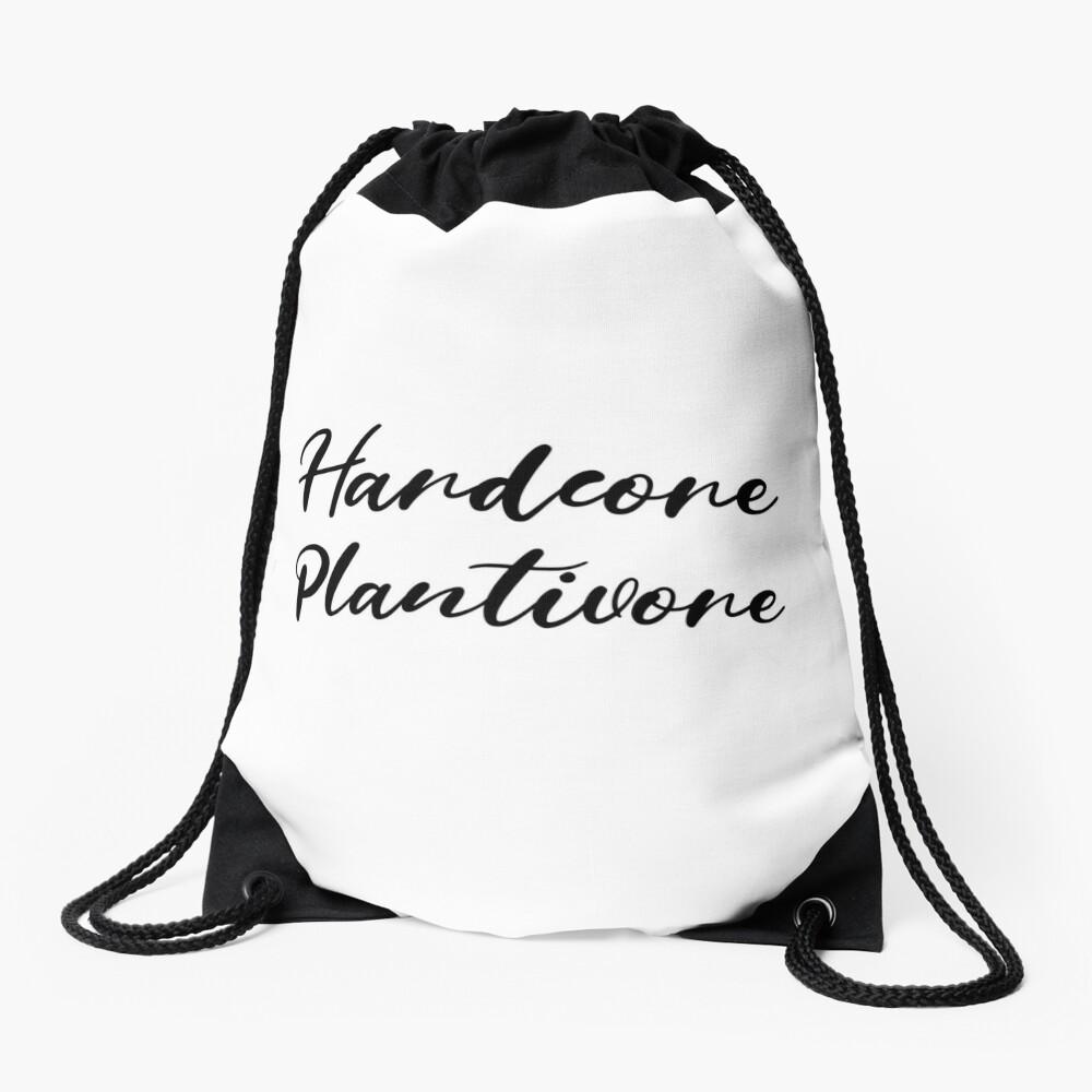 Hardcore Plantivore Black Drawstring Bag