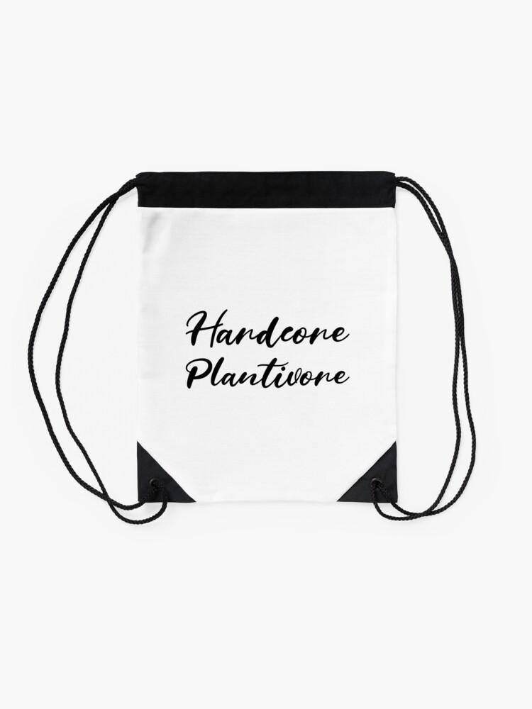 Alternate view of Hardcore Plantivore Black Drawstring Bag
