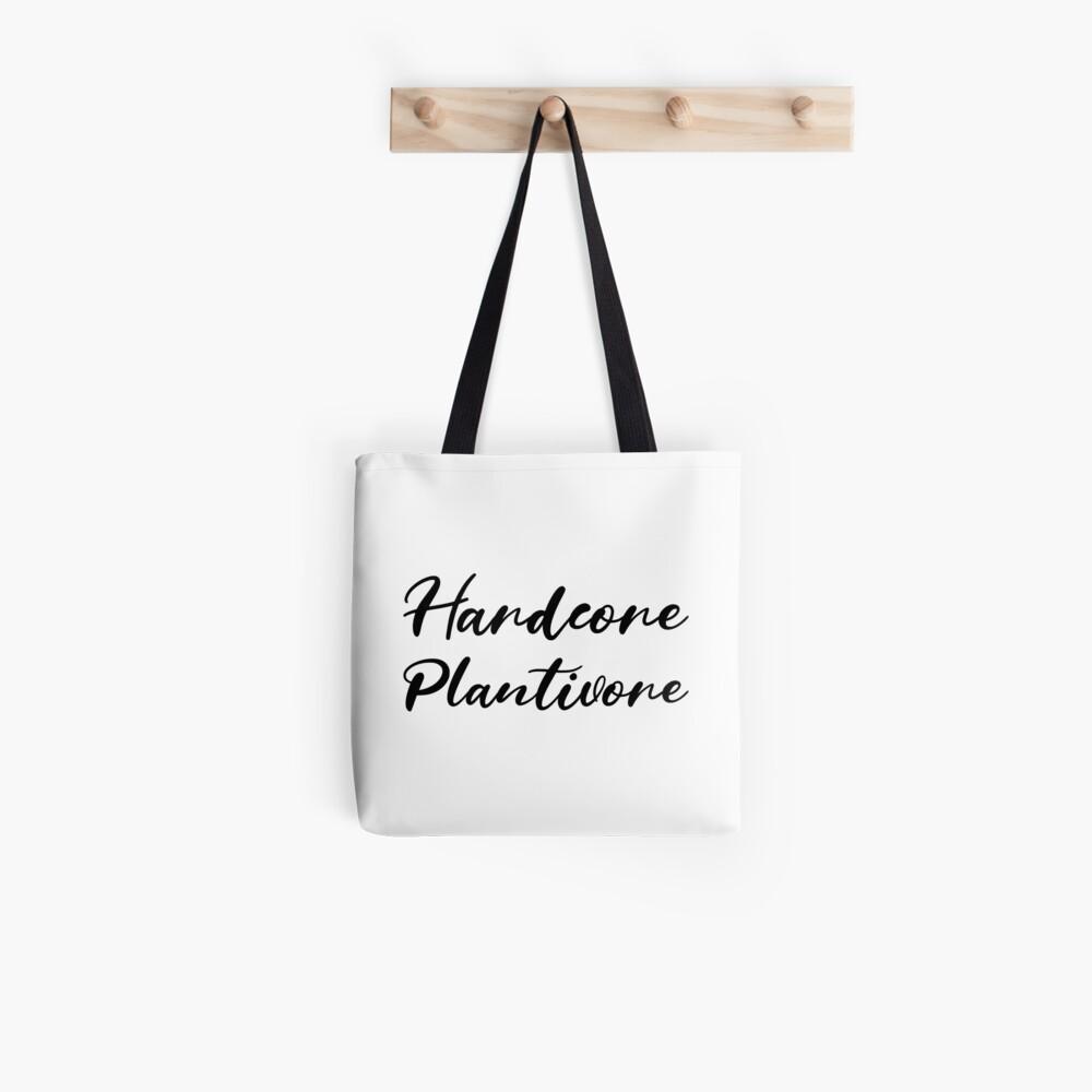 Hardcore Plantivore Black Tote Bag