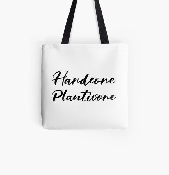 Hardcore Plantivore Black All Over Print Tote Bag