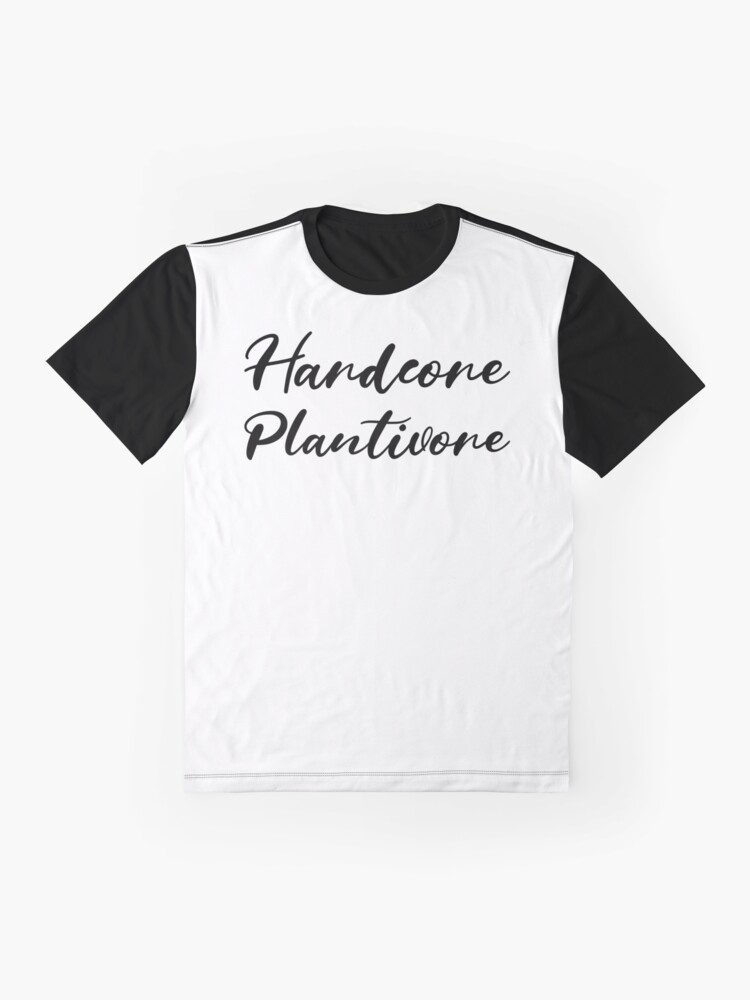 Alternate view of Hardcore Plantivore Black Graphic T-Shirt