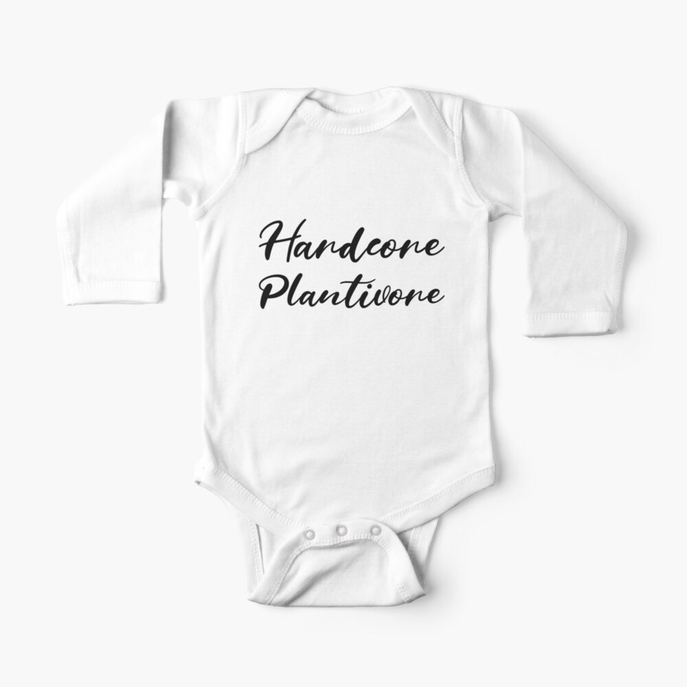Hardcore Plantivore Black Baby One-Piece