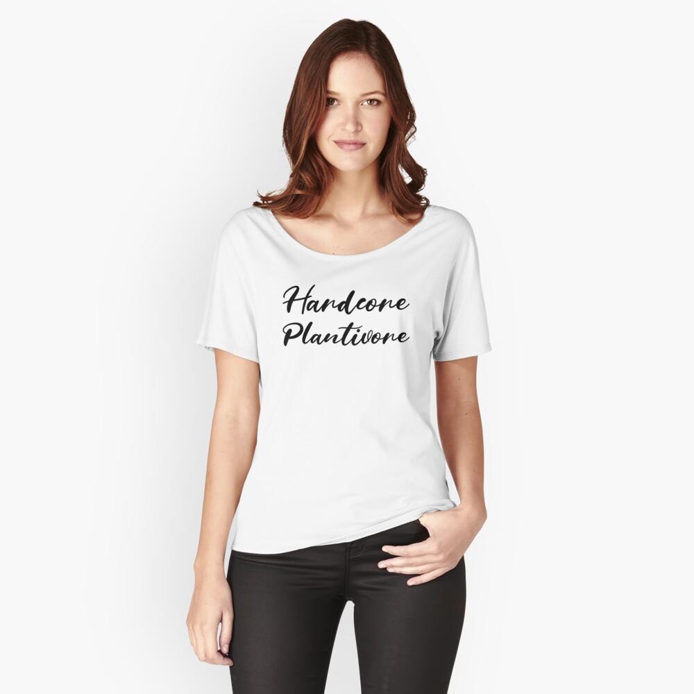 Hardcore Plantivore Black Relaxed Fit T-Shirt