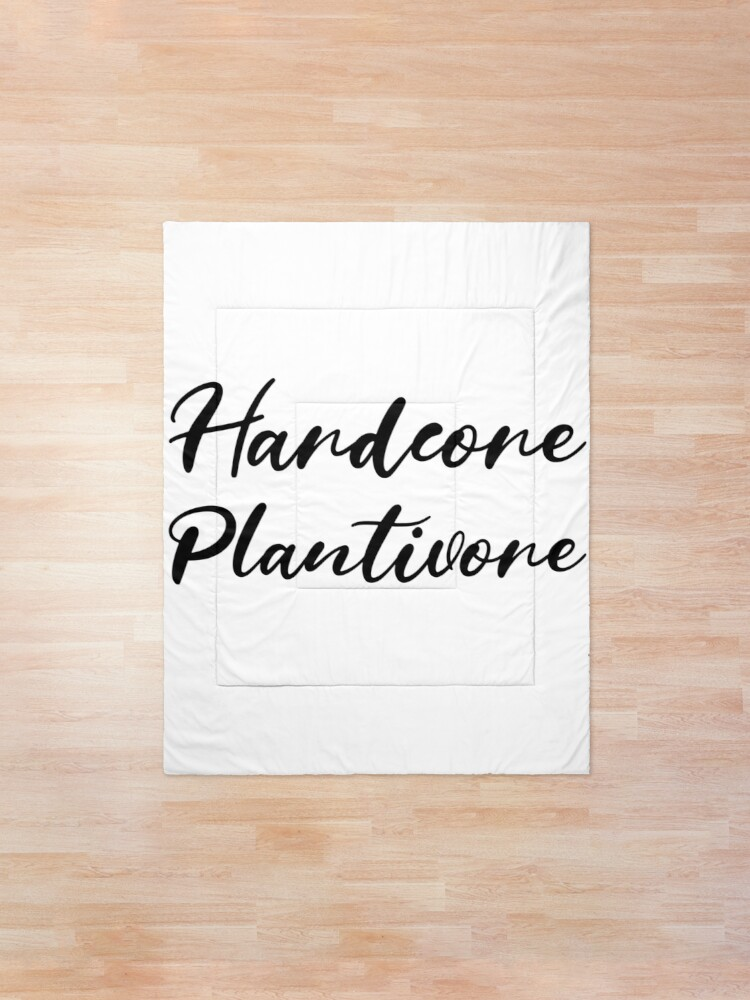 Alternate view of Hardcore Plantivore Black Comforter