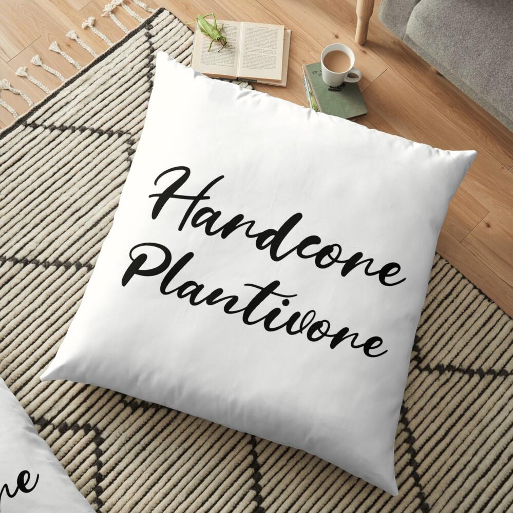 Hardcore Plantivore Black Floor Pillow