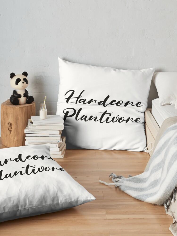 Alternate view of Hardcore Plantivore Black Floor Pillow