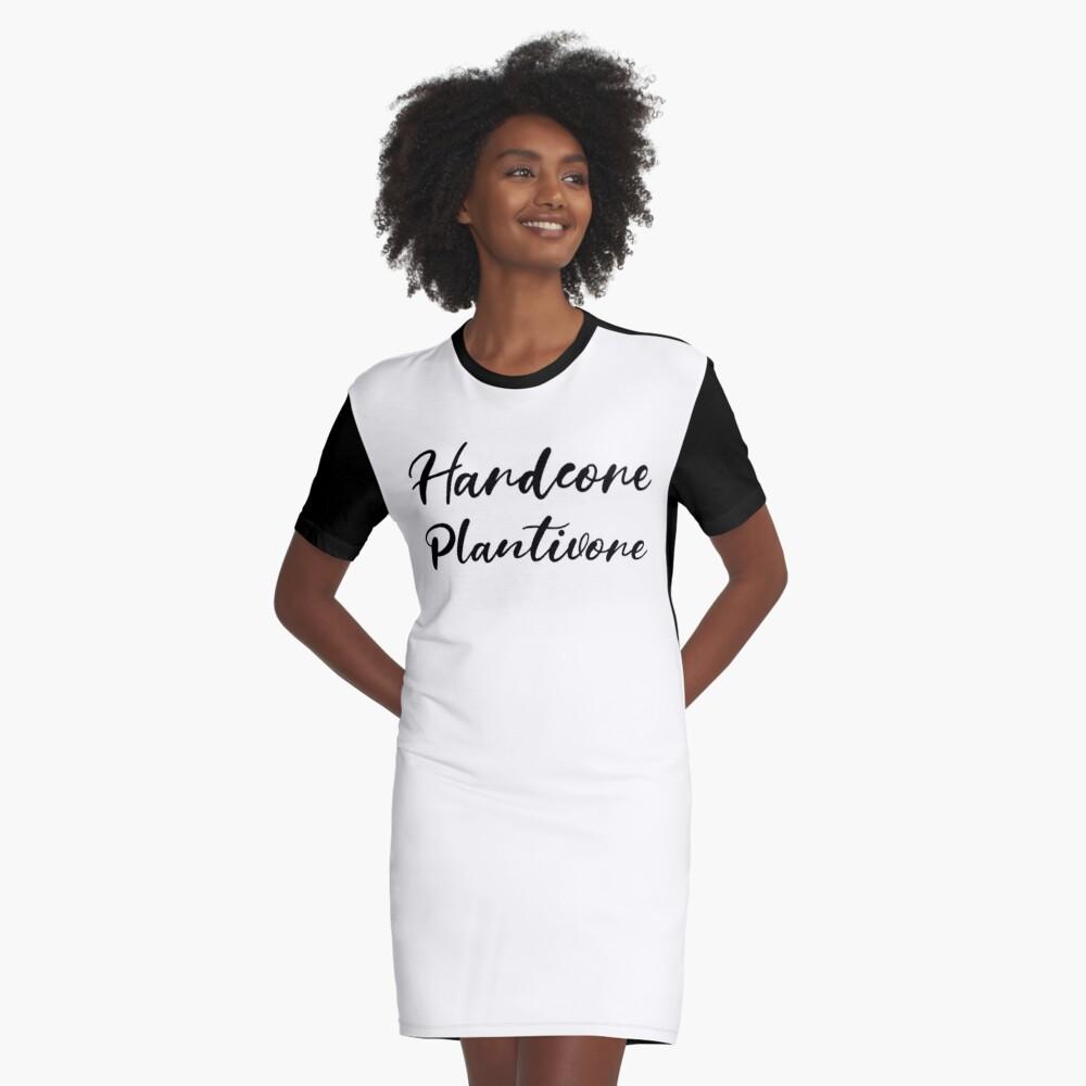 Hardcore Plantivore Black Graphic T-Shirt Dress