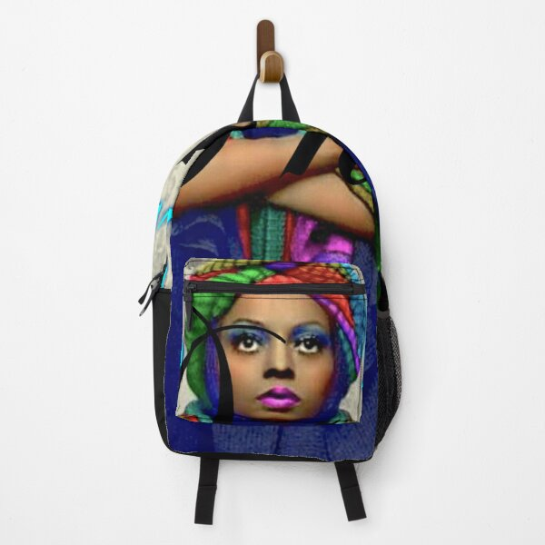 Diana Ross Diana Rossaholics DIANAROSSAHOLICS Mahogany Fluorescent Turban  Poncho  Backpack