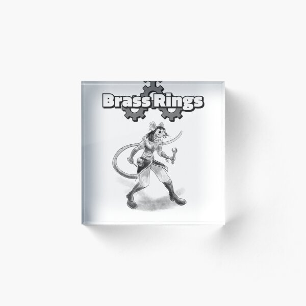 Brass Rings the RPG Engineer  Acrylic Block