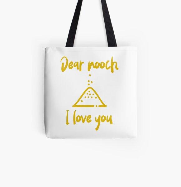 Dear Nooch I Love You All Over Print Tote Bag