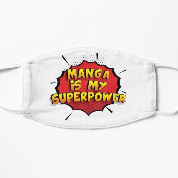 Manga ist mein Superpower Lustiges Manga Designgeschenk Flache Maske