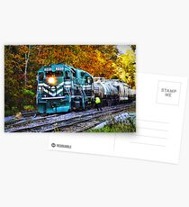 Train in Fall Postcards