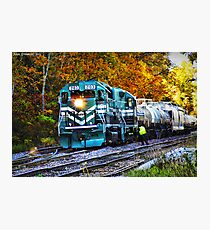Train in Fall Photographic Print