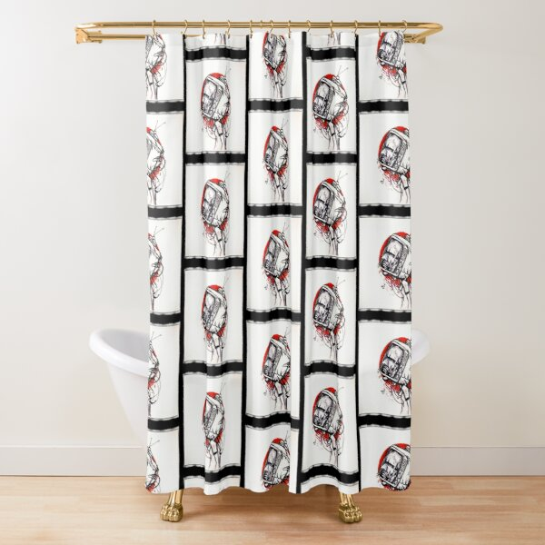TV Head 03 Shower Curtain
