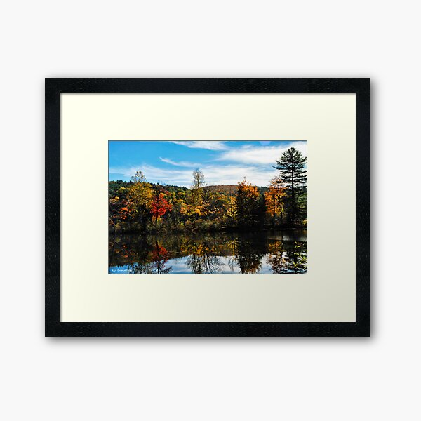 Glowing Waters of Vermont Framed Art Print