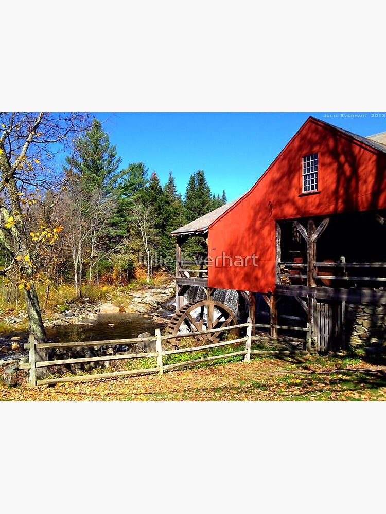 Red Grist Mill of Vermont by julev69