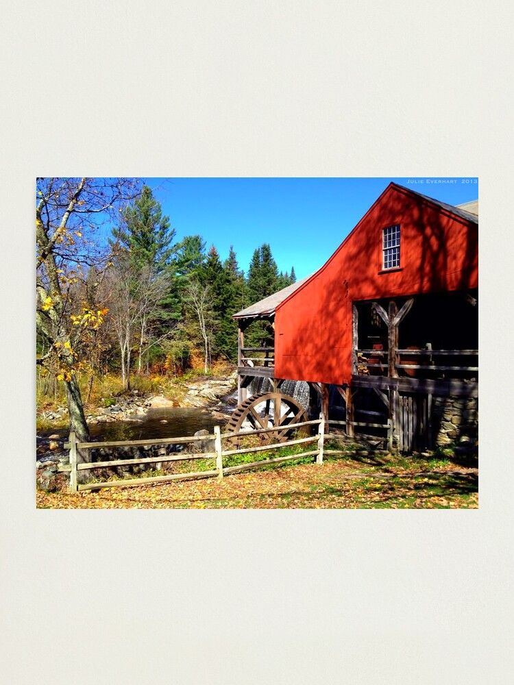 Alternate view of Red Grist Mill of Vermont Photographic Print