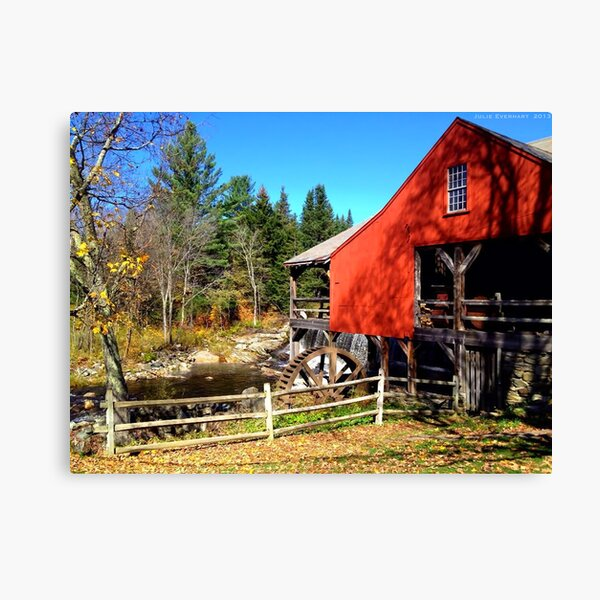 Red Grist Mill of Vermont Canvas Print