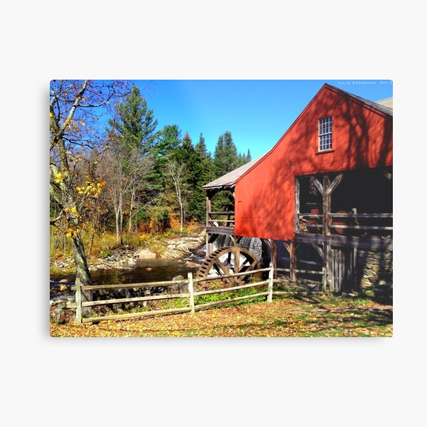 Red Grist Mill of Vermont Metal Print