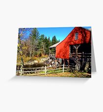 Red Grist Mill of Vermont Greeting Card