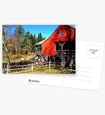 Red Grist Mill of Vermont Postcards