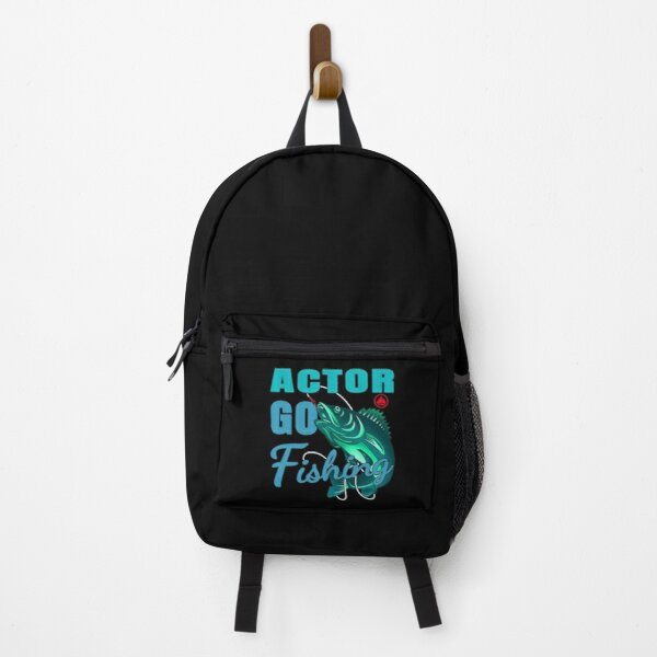 Actor Go Fishing Design Quote Backpack