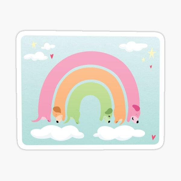 Rainbow Dachshund Wiener Dog Sticker
