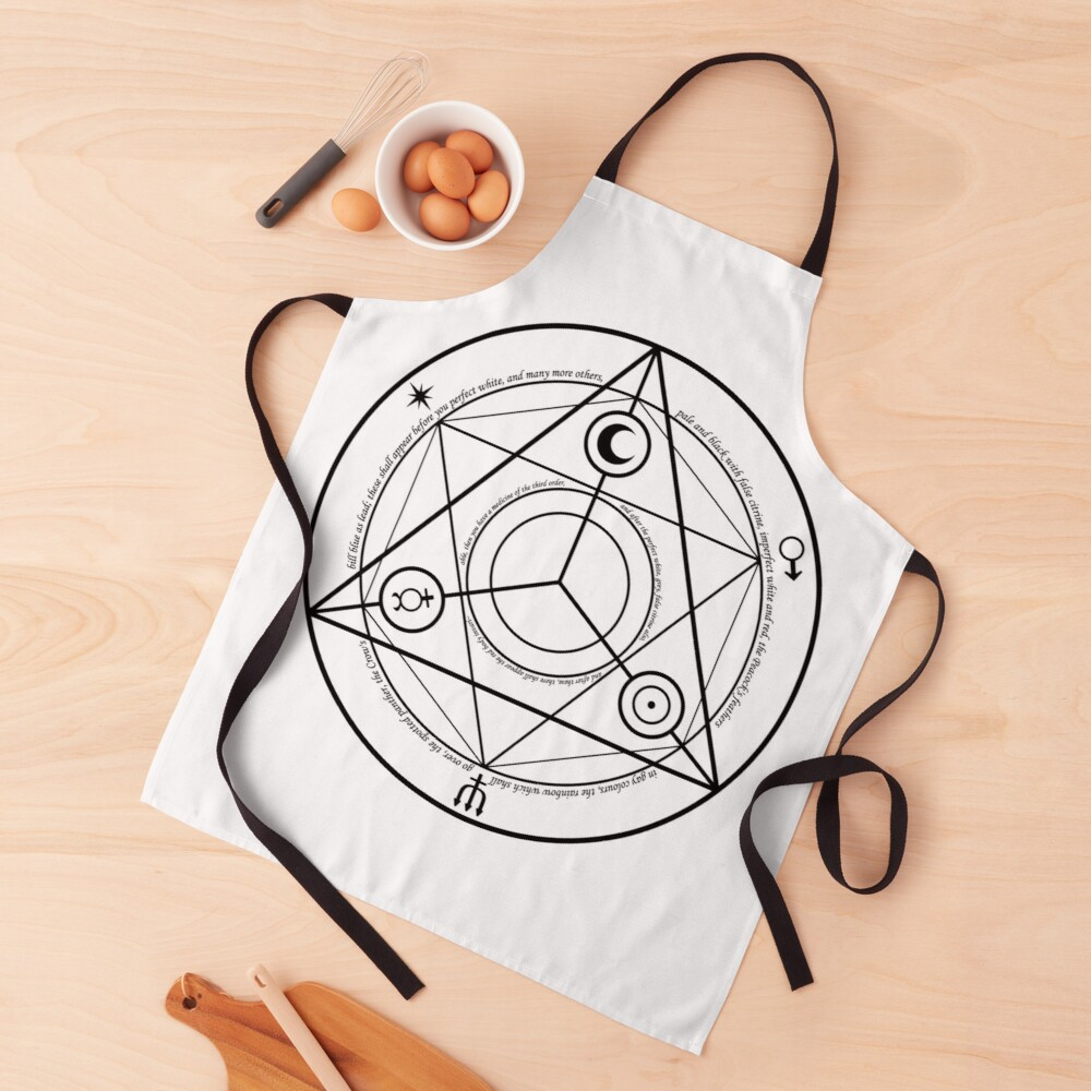Alchemy Symbol,   ur,apron_realistic_flatlay,square,1000x1000