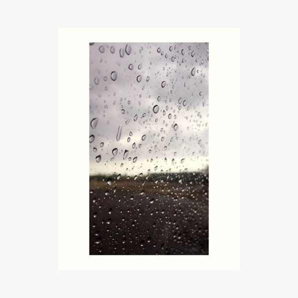 Rainy Window Art Print