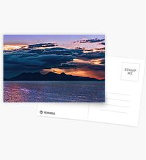 Sunset storm over the Isle of Rum Postcards