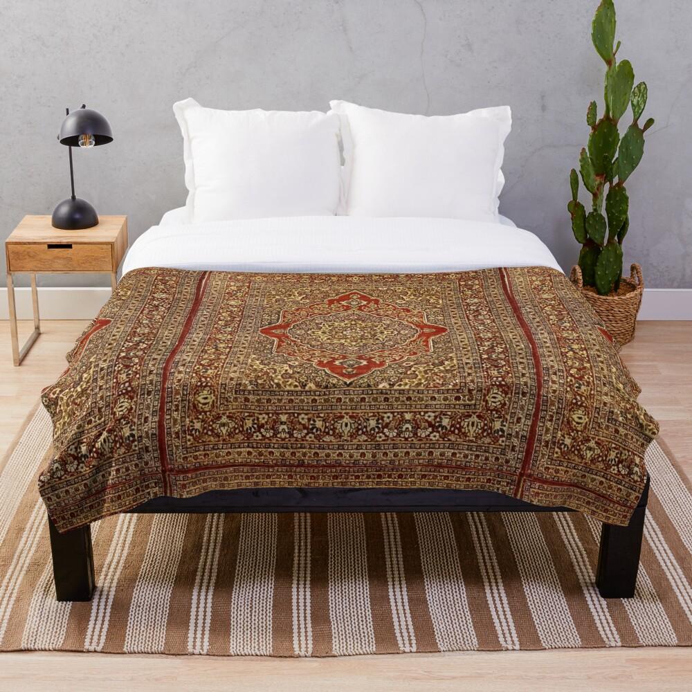 Tabriz carpet design  Throw Blanket