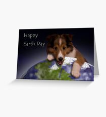 Happy Earth Day Sheltie Greeting Card