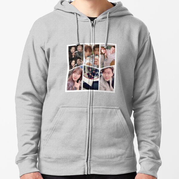 Park Shin Hye Selfie Collage Zipped Hoodie