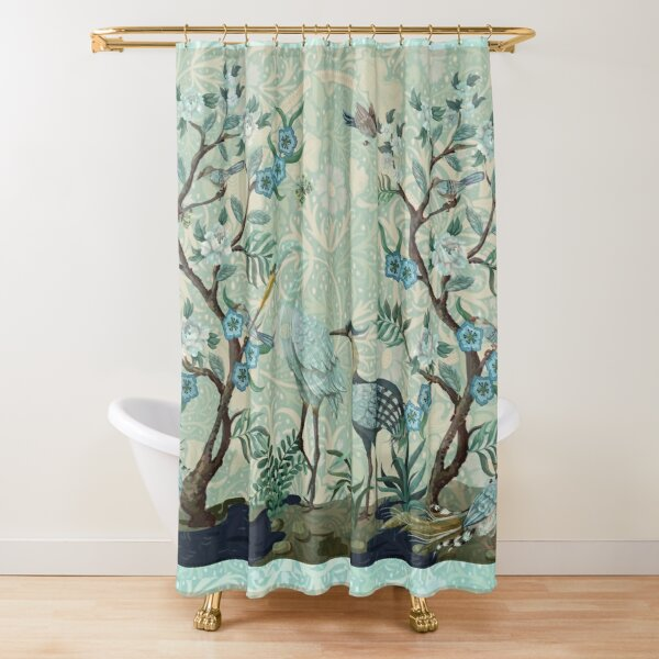 The Chinoiserie Panel Shower Curtain