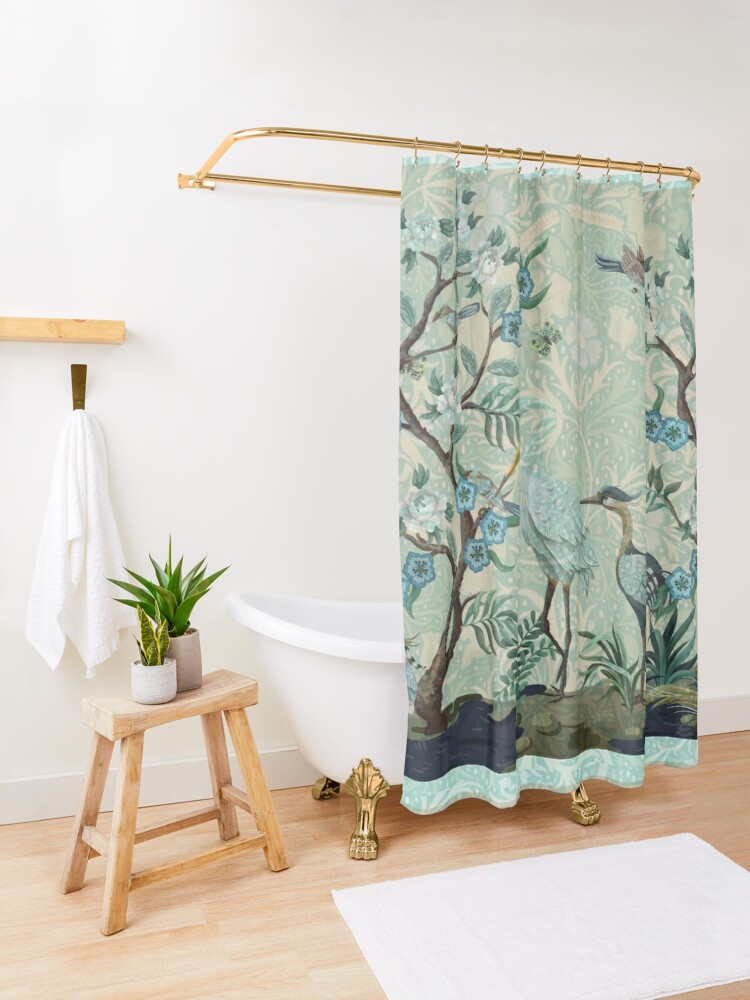 Alternate view of The Chinoiserie Panel Shower Curtain