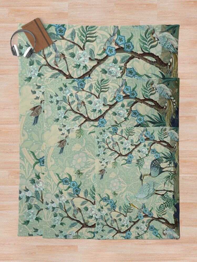 Alternate view of The Chinoiserie Panel Throw Blanket