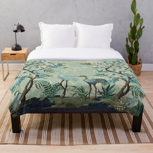 The Chinoiserie Panel Throw Blanket