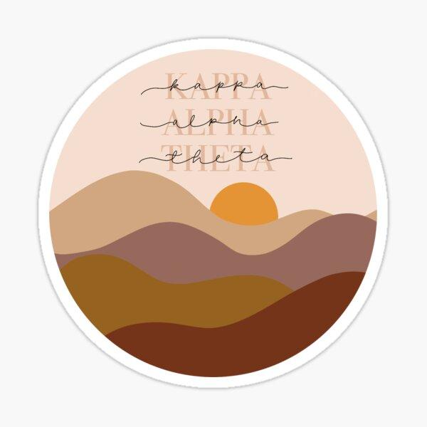 Kappa Alpha Theta Sunset Sticker