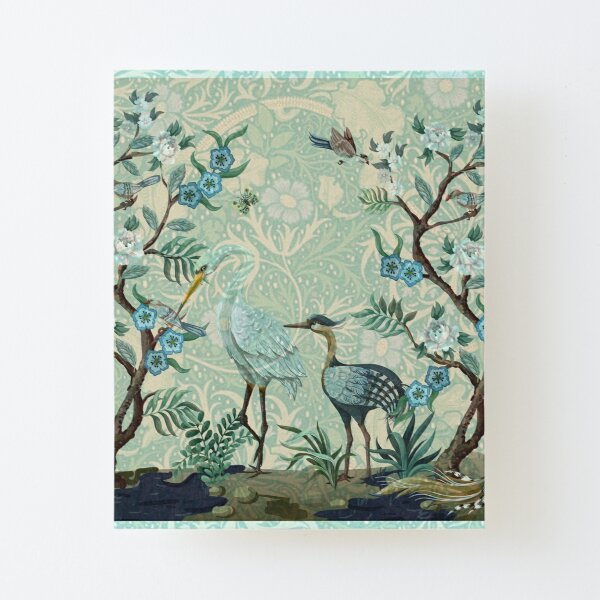 The Chinoiserie Panel Canvas Mounted Print