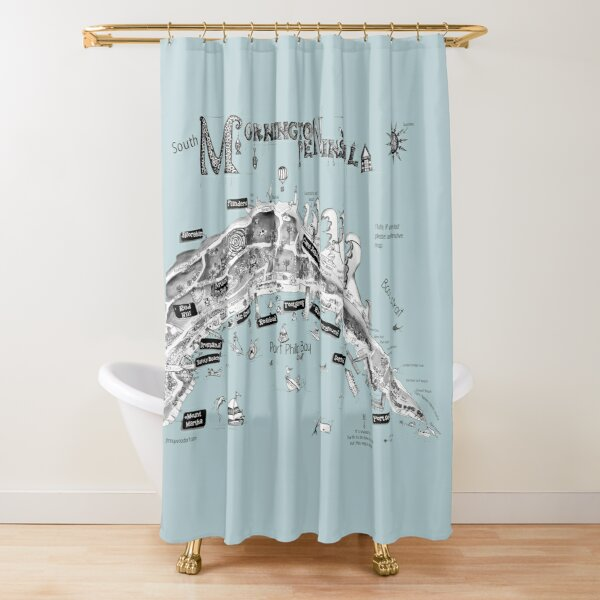 Mornington Peninsula map Shower Curtain