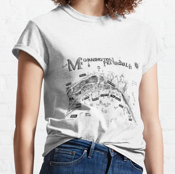 Mornington Peninsula map Classic T-Shirt