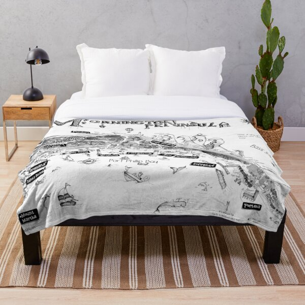 Mornington Peninsula map Throw Blanket