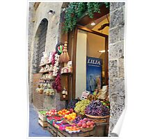 Store front Siena, Italy Poster
