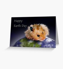 Happy Earth Day Hamster Greeting Card