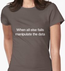 When all else fails manipulate the data Women's Fitted T-Shirt