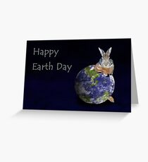 Happy Earth Day Bunny Rabbit Greeting Card
