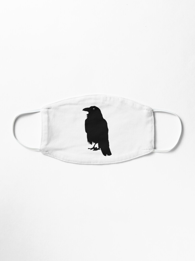 Crow Silhouette Mask By A Gooding Call Redbubble Crow silhouette from animals and birds. crow silhouette mask by a gooding call redbubble