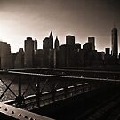 New York from Brooklyn Bridge by Andrew Wilson